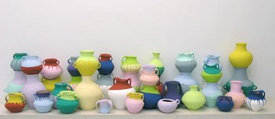 Coloured vases 2006