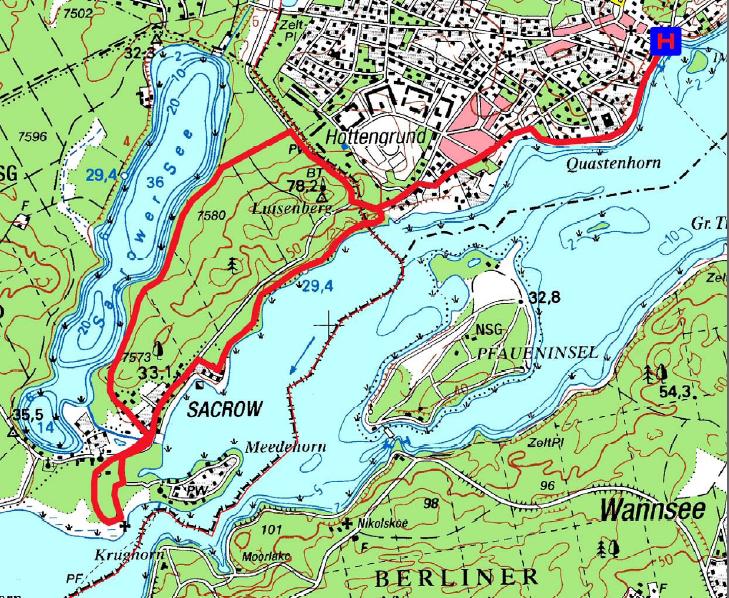 Sacrow-Karte