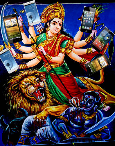 6-armed goddess